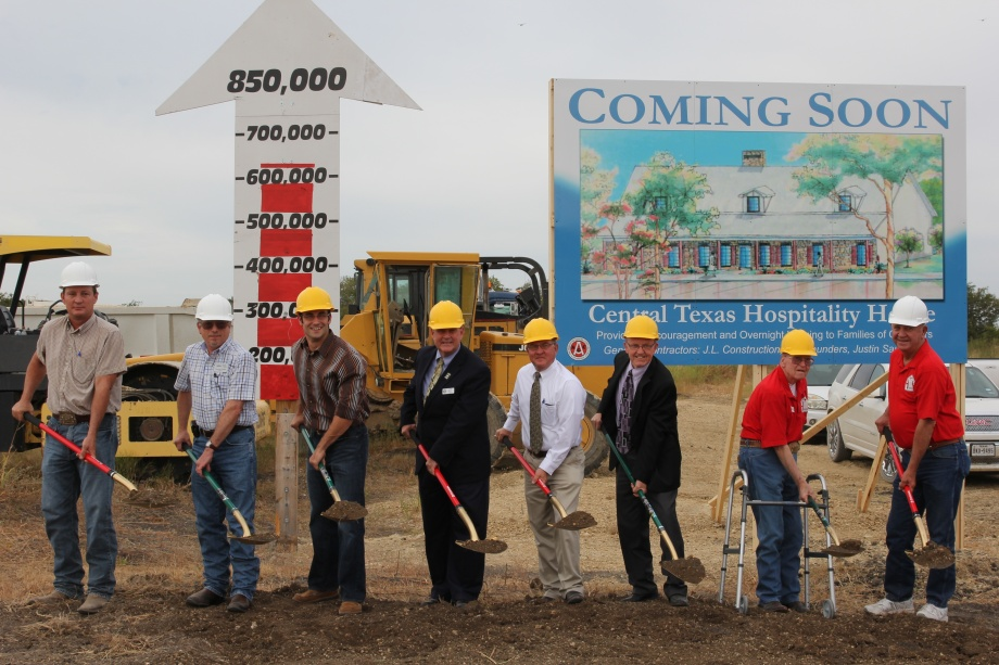 City officials breaking first ground!